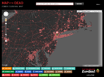 Map of the Dead - Zombie Survival Map