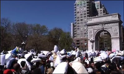 NYC Pillow Fight 2012