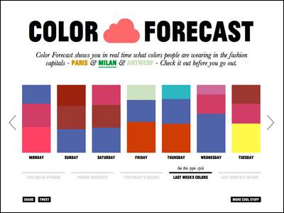 color forecast