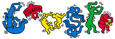 Google キース・へリング生誕54周年 Courtesy of the Keith Haring Foundation.