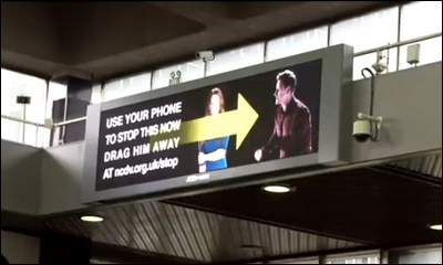 NCDV 'Drag Him Away' Campaign