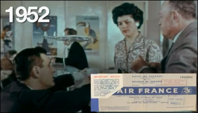 The history of the air ticket from 1933 to 2012