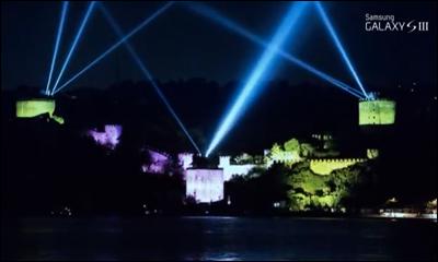 Samsung Galaxy S III Rumeli Hisarı Video Mapping Show