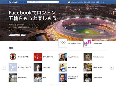 Facebookでロンドン五輪をもっと楽しもう