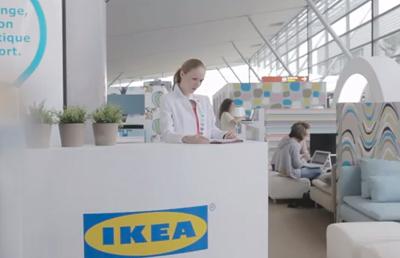 IKEA Lounge à l'aéroport Roissy-Charles de Gaulle
