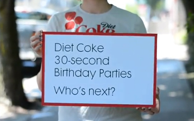 30 second party for Diet Coke's 30th birthday