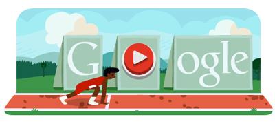 Google 陸上・ハードルロゴで、ゲームができる!(ロンドンオリンピック2012)