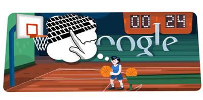 Google バスケットボールロゴで、ゲームができる!(ロンドンオリンピック2012)