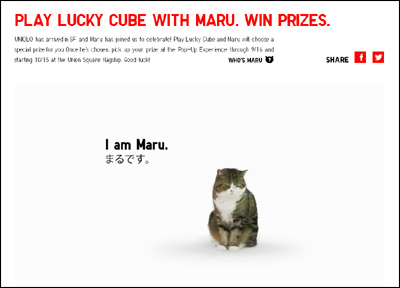 LUCKY CUBE WITH MARU | UNIQLO - UNIQLO