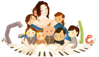 Google ロベルト・シューマンの妻でピアニストの、クララ・シューマン生誕193周年