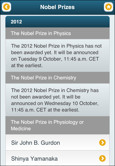 Official Nobel Prize App
