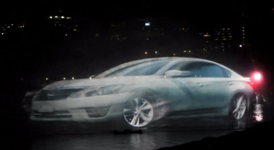 Nissan Canada Day 3D Water Projection