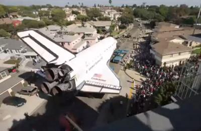 Space shuttle Endeavour's trek across L.A.