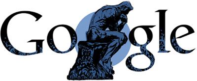 Google 彫刻「考える人」で有名なオーギュスト・ロダン生誕172周年