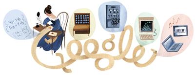 Google 世界初のコンピュータープログラマーとも言われるエイダ・ラブレス生誕197周年