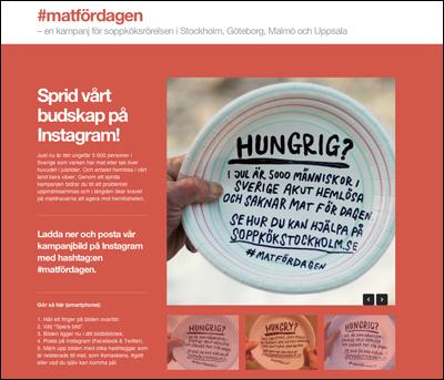#matfördagen   Sprid våra kampanjbilder på Instagram!