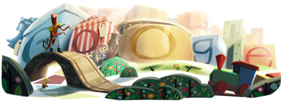 Google 2012 ホリデーシーズンロゴ 2日目