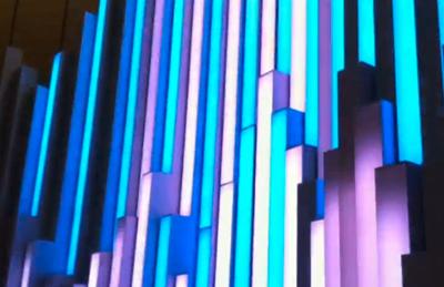 銀座ソニービルの水をイメージしたイルミネーション