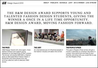 H&M Design Award 2013
