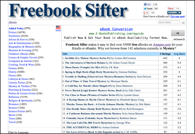 Freebook Sifter - A Resource for Free eBooks