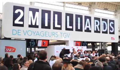 SNCF fête ses 2 milliards de voyageurs TGV