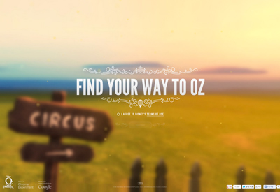 Find Your Way to Oz - Chrome Experiment