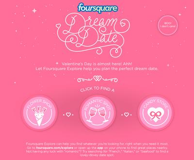 Foursquare Dream Date