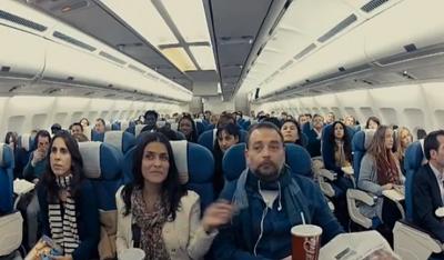 Coca-Cola Zero. Cambiazo en un avión