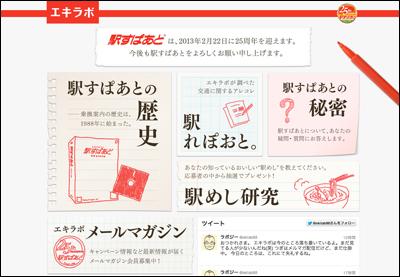駅すぱあと25周年記念サイト「エキラボ」