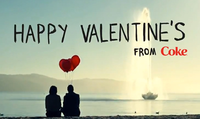 Coca-Cola wishes everyone a Happy Valentine's!