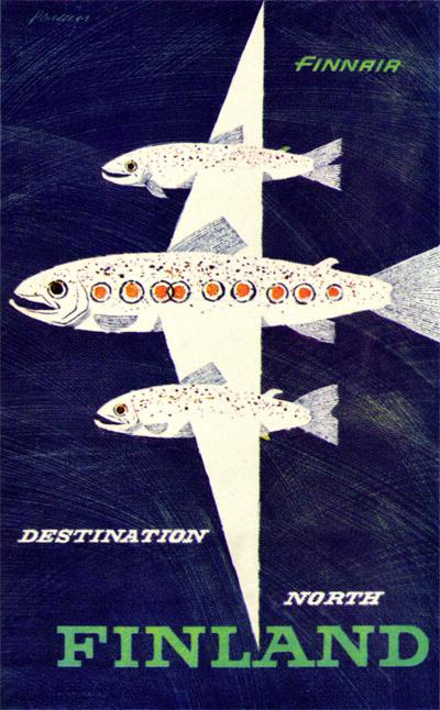 Finnair's 90'th anniversary poster