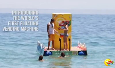 World's First Floating Vending Machine