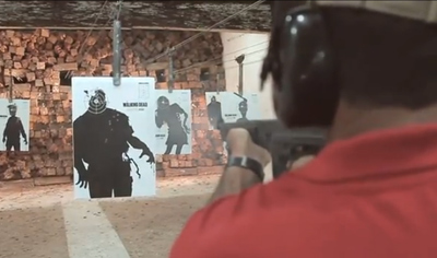 The Walking Dead Shooting Posters