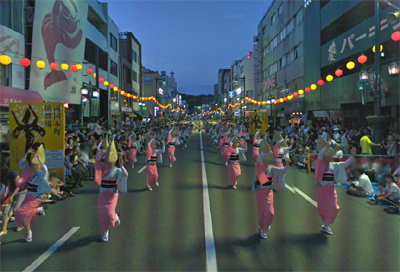Google streetview 阿波踊り