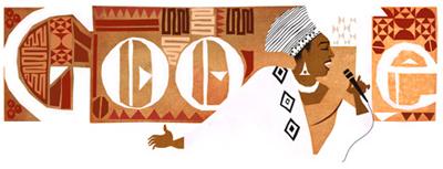 Google グラミー賞受賞歌手ミリアム・マケバ生誕81周年