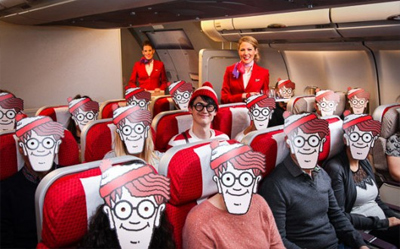 Virgin Atlantic ask Where's Wally?