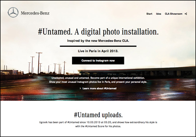 #Untamed. A digital photo installation.Inspired by the new Mercedes-Benz CLA.