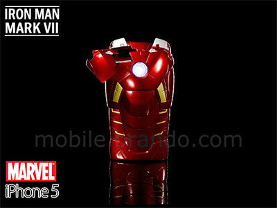 iPhone 5 MARVEL Iron Man Mark VII Protective Case with LED Light