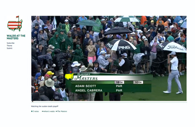 Waldo At The Masters
