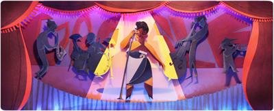 Google ジャズシンガーのエラ・フィッツジェラルド生誕96周年記念ロゴに!