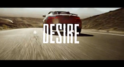 aguar F-TYPE presents Desire