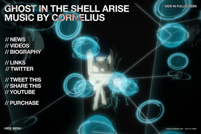 GHOST IN THE SHELL ARISE MUSIC BY CORNELIUS