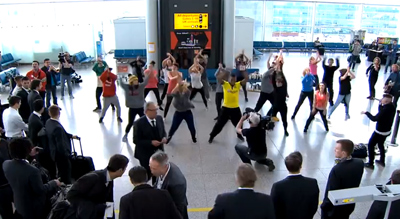 Flashmob for Borussia Dortmund
