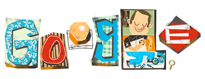 Google 父の日でお父さんイラストのスロットロゴに!