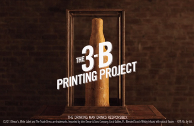 Dewar's Highlander Honey Presents: The 3-B Printing Project