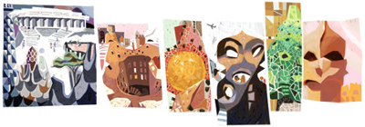Google アントニ・ガウディ生誕161周年で彼の手がけた建築物がDoodleに!