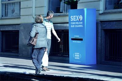 Sexo é bem melhor que cigarro - Alegria gera Saúde