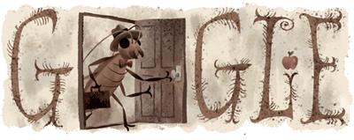 Google チェコ出身の作家フランツ・カフカ生誕130周年を記念して虫に変身したDoodleに!