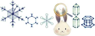 Google 雪の研究で知られる中谷宇吉郎生誕113周年で、雪の結晶イラストロゴに!