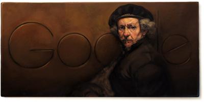 Google 光の魔術師と呼ばれた画家レンブラント・ファン・レイン生誕407周年ロゴに!
